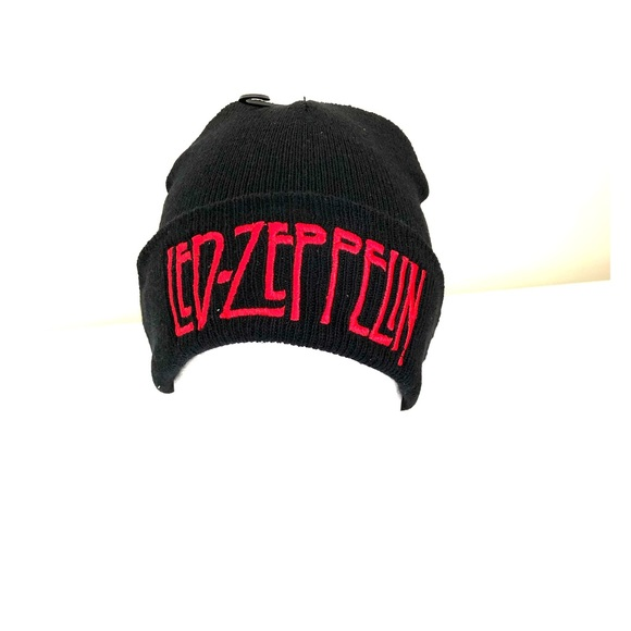 Led Zeppelin rock band embroidered beanies unisex e370202bbff